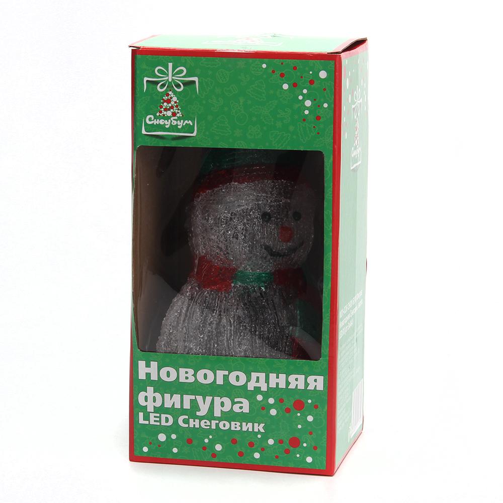 СНОУ БУМ Фигура Новогодняя, акрил, Снеговик, LED30 (от 3xАА), 35x20см