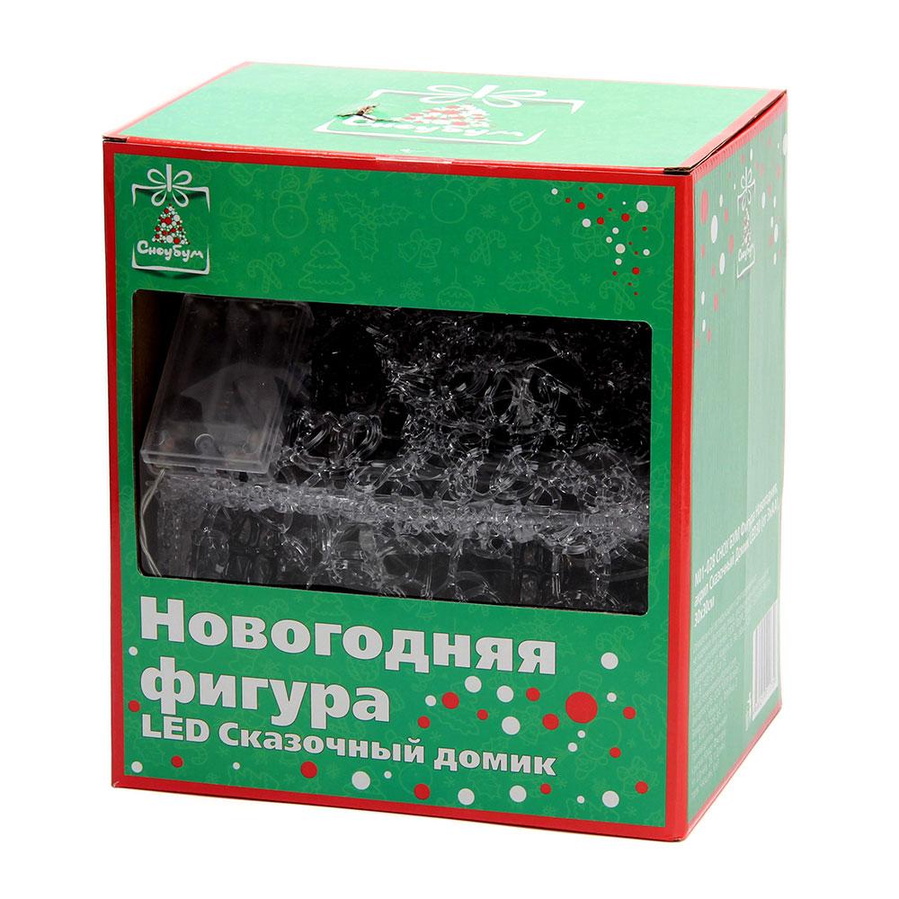 СНОУ БУМ Фигура Новогодняя, акрил Сказочный Домик LED30 (от 3xАА), 30х30см