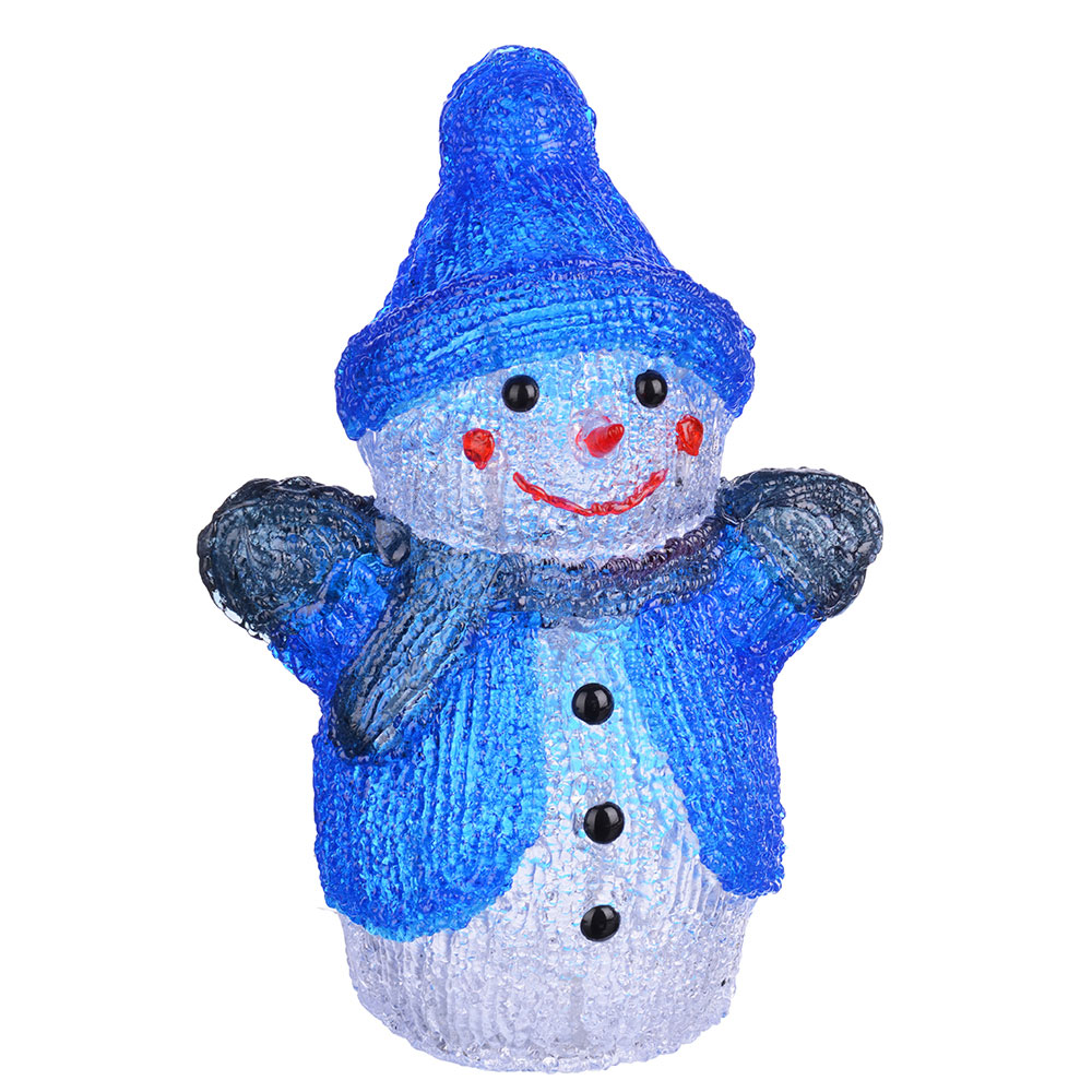 СНОУ БУМ Фигура Новогодняя акрил Снеговик LED24 (от 3xАА), 17x14x28см