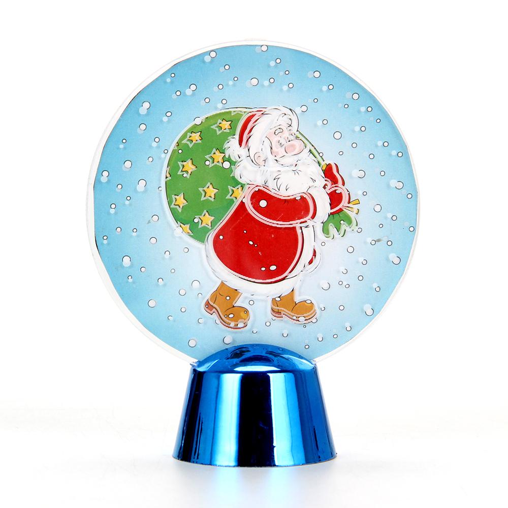 СНОУ БУМ Светильник LED Голография Дед Мороз, h=11см, (от батареек)