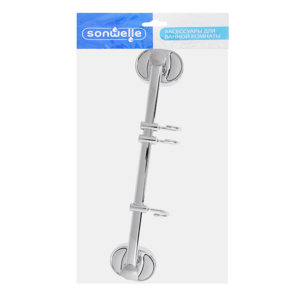 Вешалка в ванную, 3 подвижных крючка, SonWelle 8115-3 8100