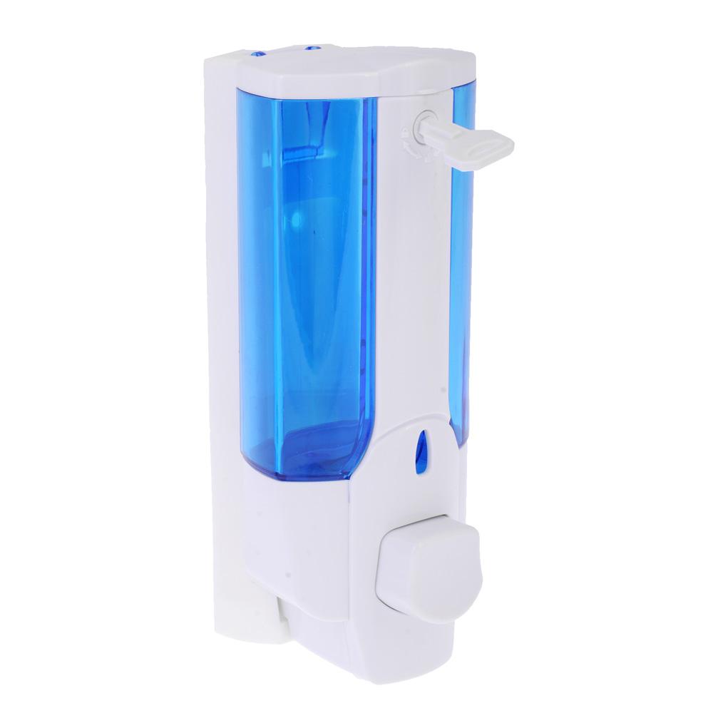Дозатор для мыла 350 мл, 7х8х19 см, пластик белый, SonWelle HS-41402