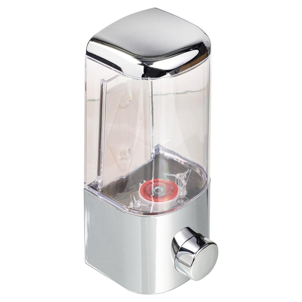 Дозатор для мыла 500 мл, 8,5х8,5х20 см, пластик хром, SonWelle HS-40802