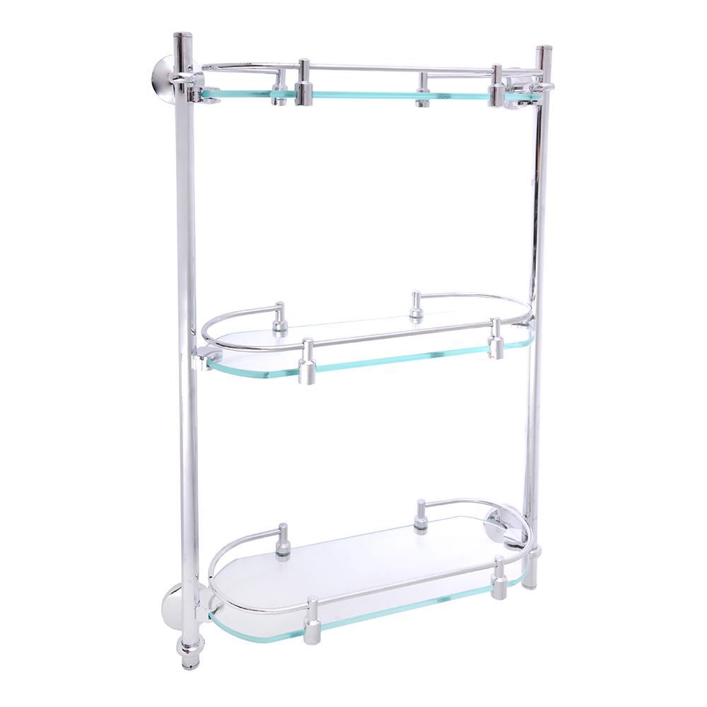 Полка для ванной комнаты тройная, стекло, SonWelle HS-5603