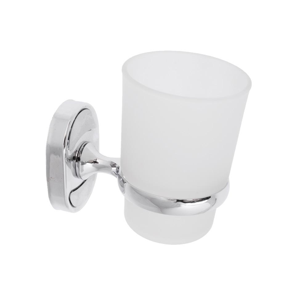 Стакан для зубных щеток с держателем хром, стекло, SonWelle 8106 8100