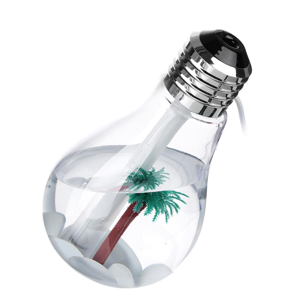 LEBEN Увлажнитель воздуха настольный USB, в виде лампочки, с подсветкой, 400мл