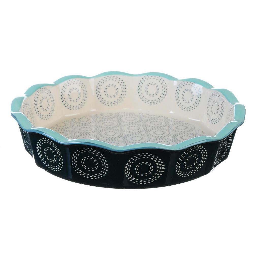 Форма для запекания MILLIMI, d. 22 см, круглая, керамика, аквамарин