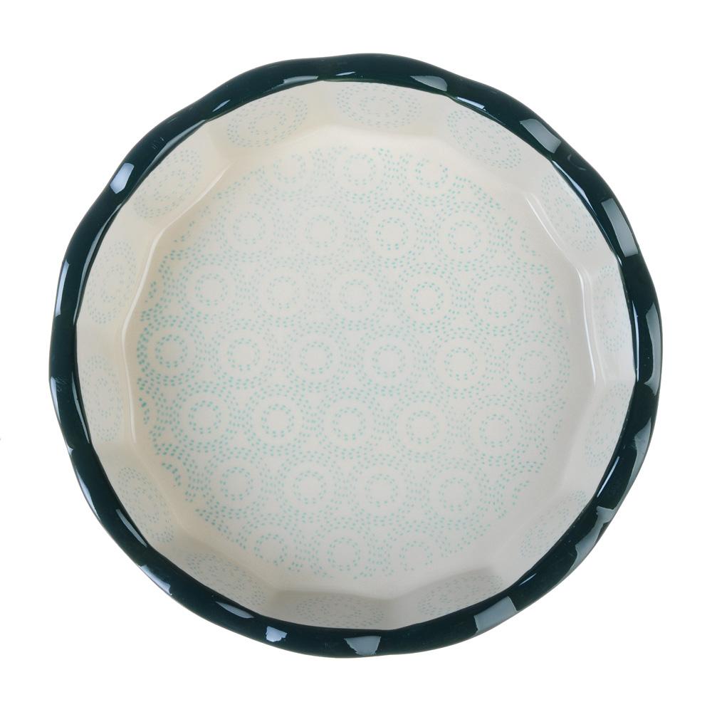 MILLIMI Форма для запекания и сервировки круглая, керамика, 22х4,5см, бирюзовый