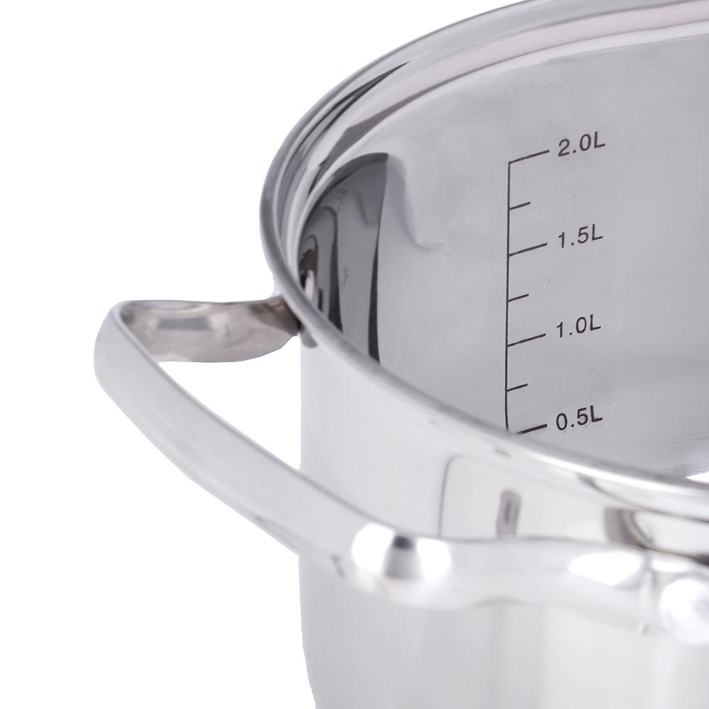 VETTA Берн Набор кастрюль 13 пр (1,9л+2,6л+3,5л+4,7л+6,1л.) со стекл. крышкой, 3 пр кух. пр. нейлон