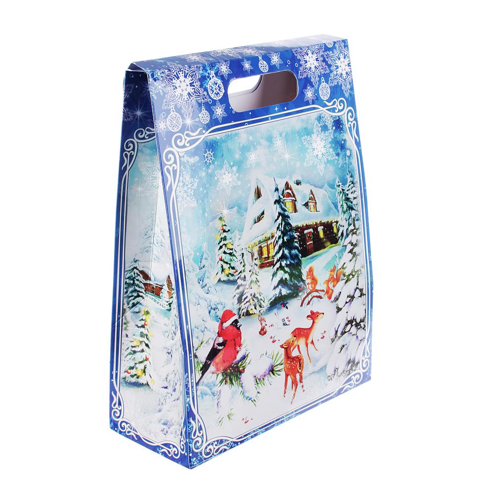 """Коробка подарочная """"Голубой домик"""", 22,8х9,9х31,1 см"""
