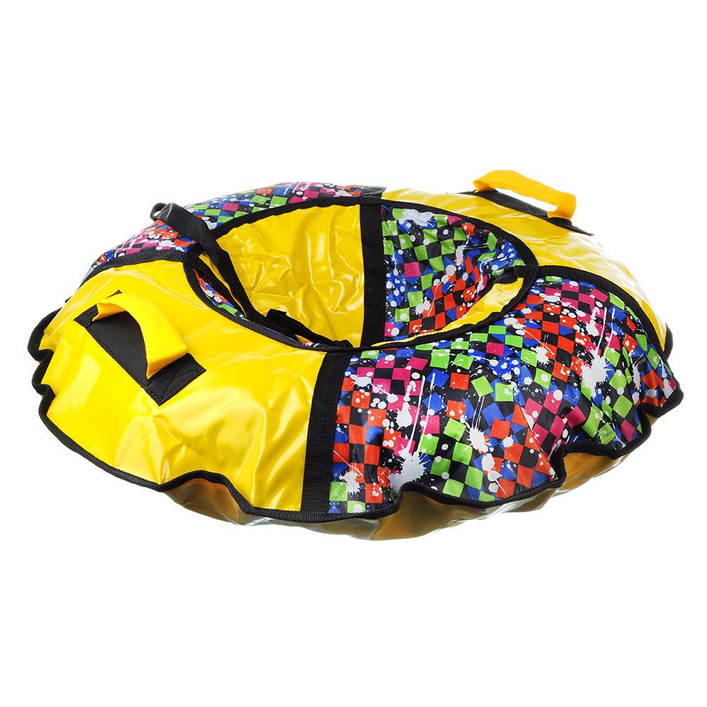 """Санки-ватрушки, сумка с молнией, 90см, камера R13, Оксфорд 600гр/м2, """"Профи-лайт Дизайн"""""""