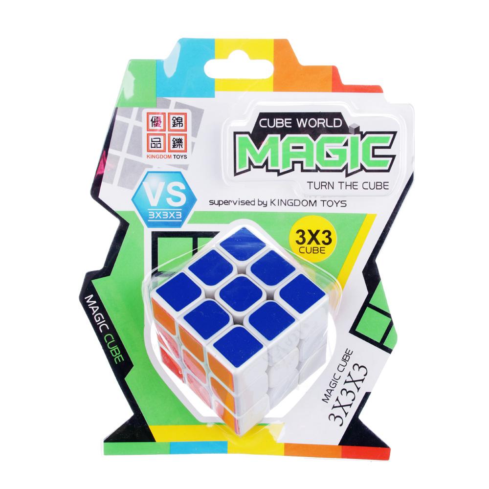 "Кубик-головоломка ""Собери цвета"" белая, пластик ,5,6х5,6х5,6см"