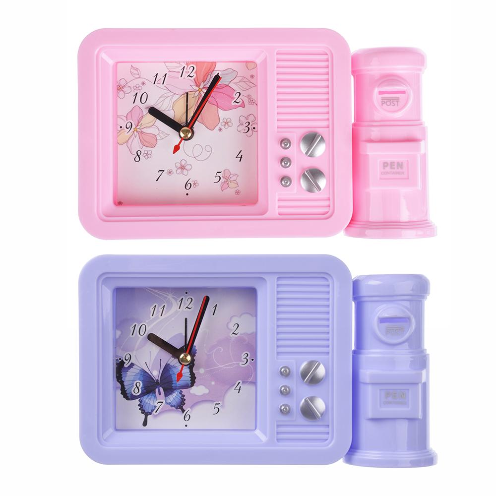 Будильник электронный с подставкой для ручек, пластик, 17х10х4,5 см, 1хАА, 2 цвета