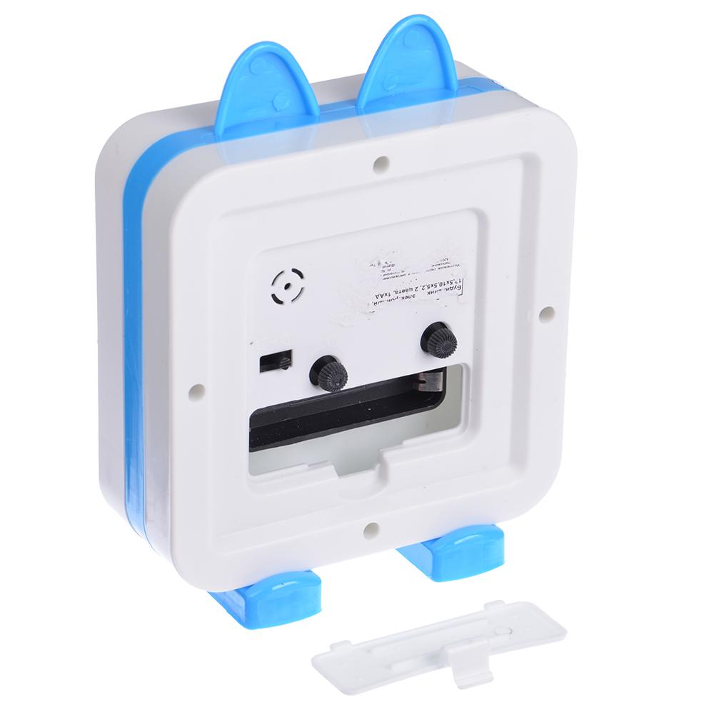 Будильник электронный, пластик, 13,5х10,5х5,2 см, 1хАА, 2 цвета