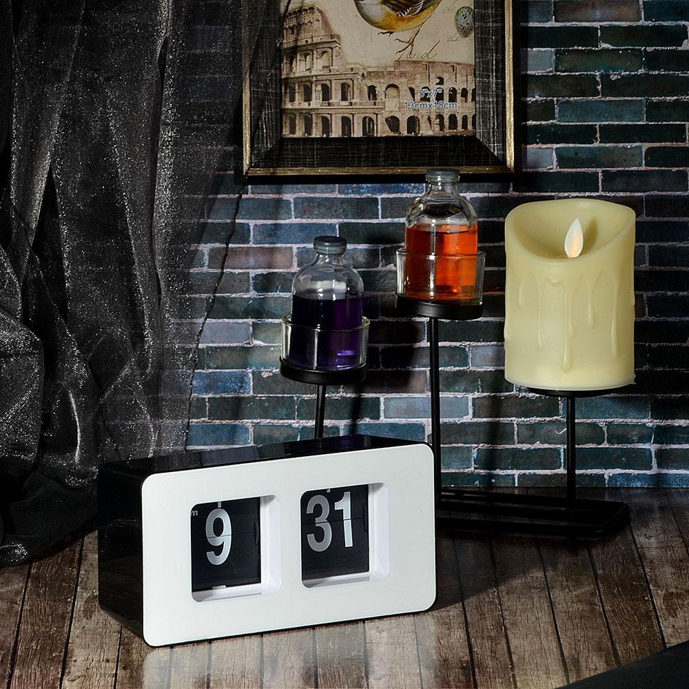 Часы настольные с перелистывающимся циферблатом, пластик, 17,8х9,3х6,8 см, 1хАА