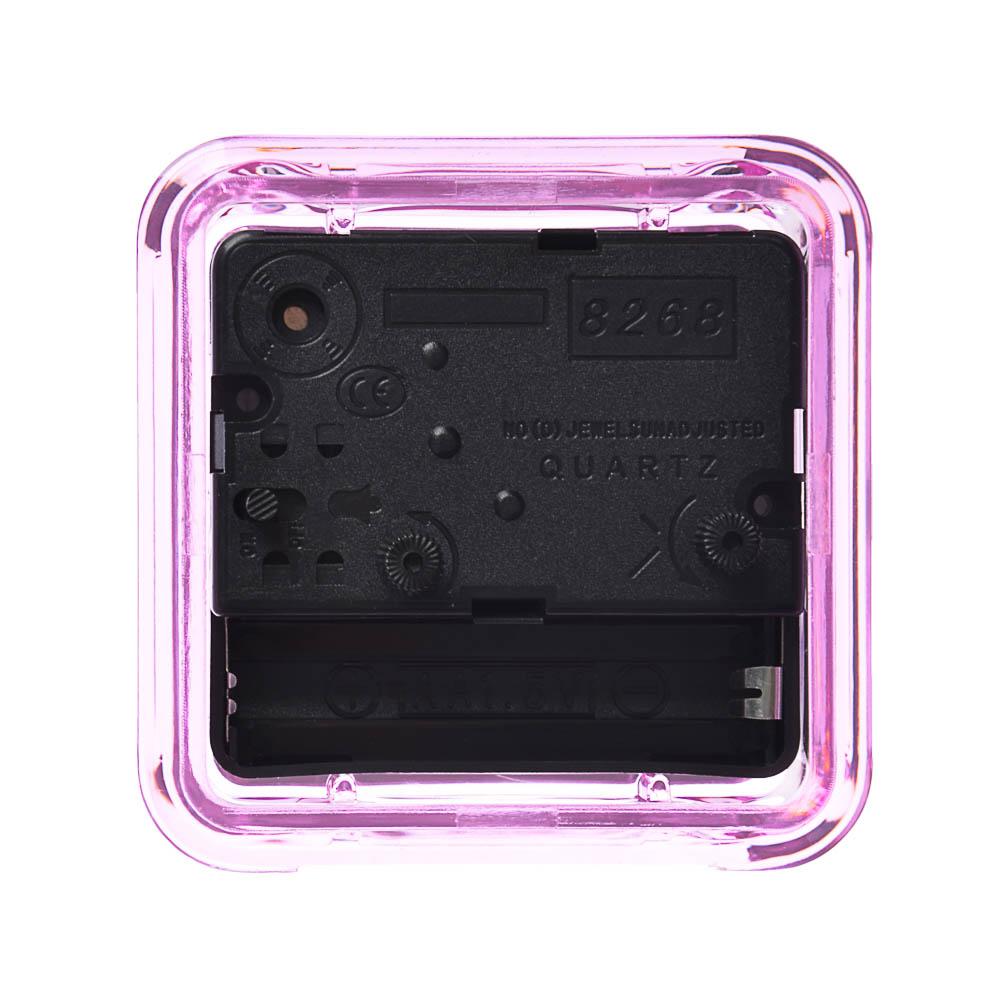 """Будильник кварц, корпус прозрачный, пластик, 7х7х4 см, """"Классика"""""""