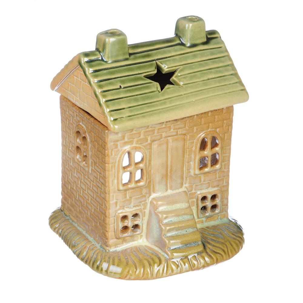 Аромалампа в виде дома, керамика, 13,5х10,5х10 см, 2 цвета