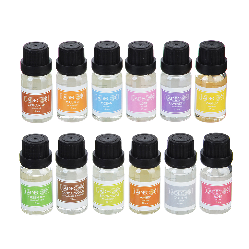 LADECOR Аромамасло 10мл, 12 ароматов