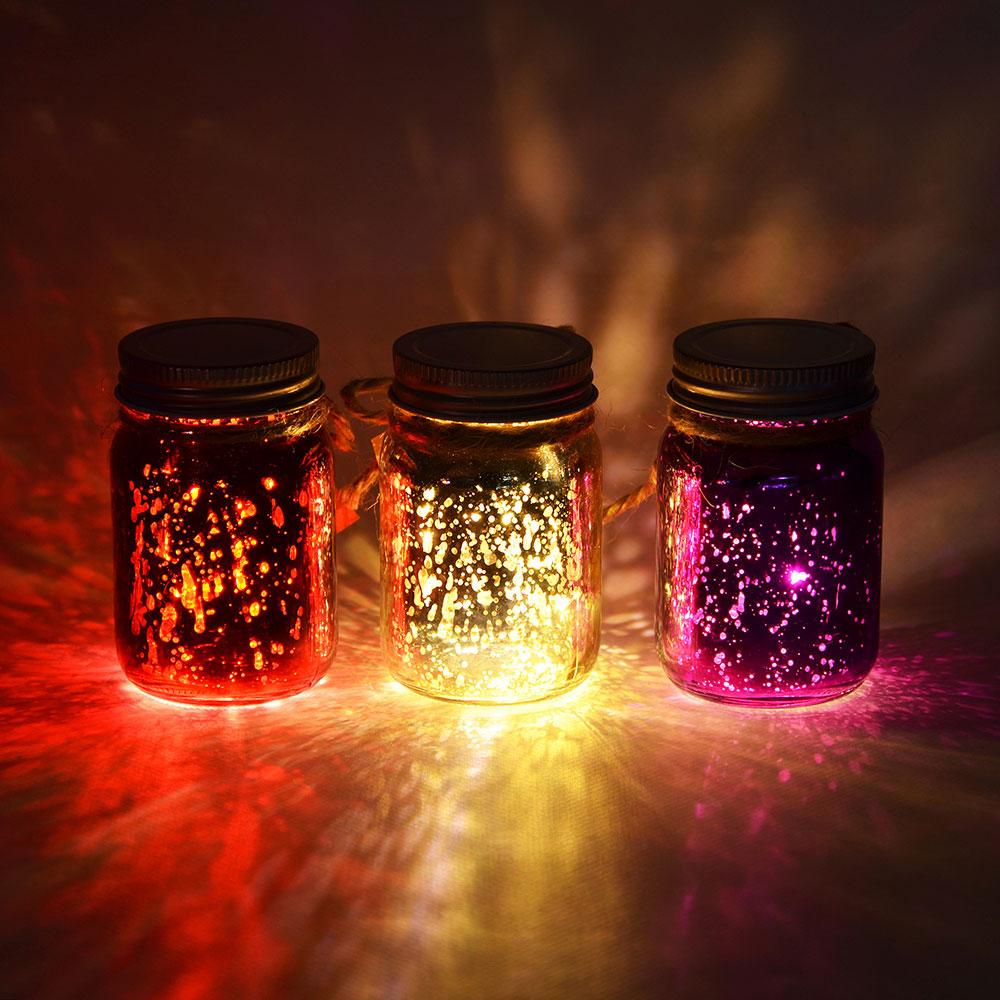 Светильник LED декоративный, стекло, 5х8 см, 1xCR2032, 3 цвета, 1 режим свечения