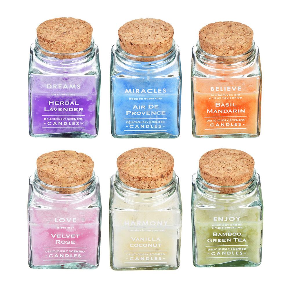 Свеча ароматическая LADECOR, в стекле, 6,5х9,5 см, 6 ароматов