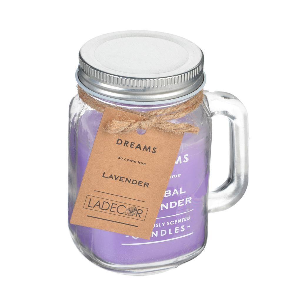Свеча ароматическая, в стекле, 9,4х7х11,3 см, 6 ароматов
