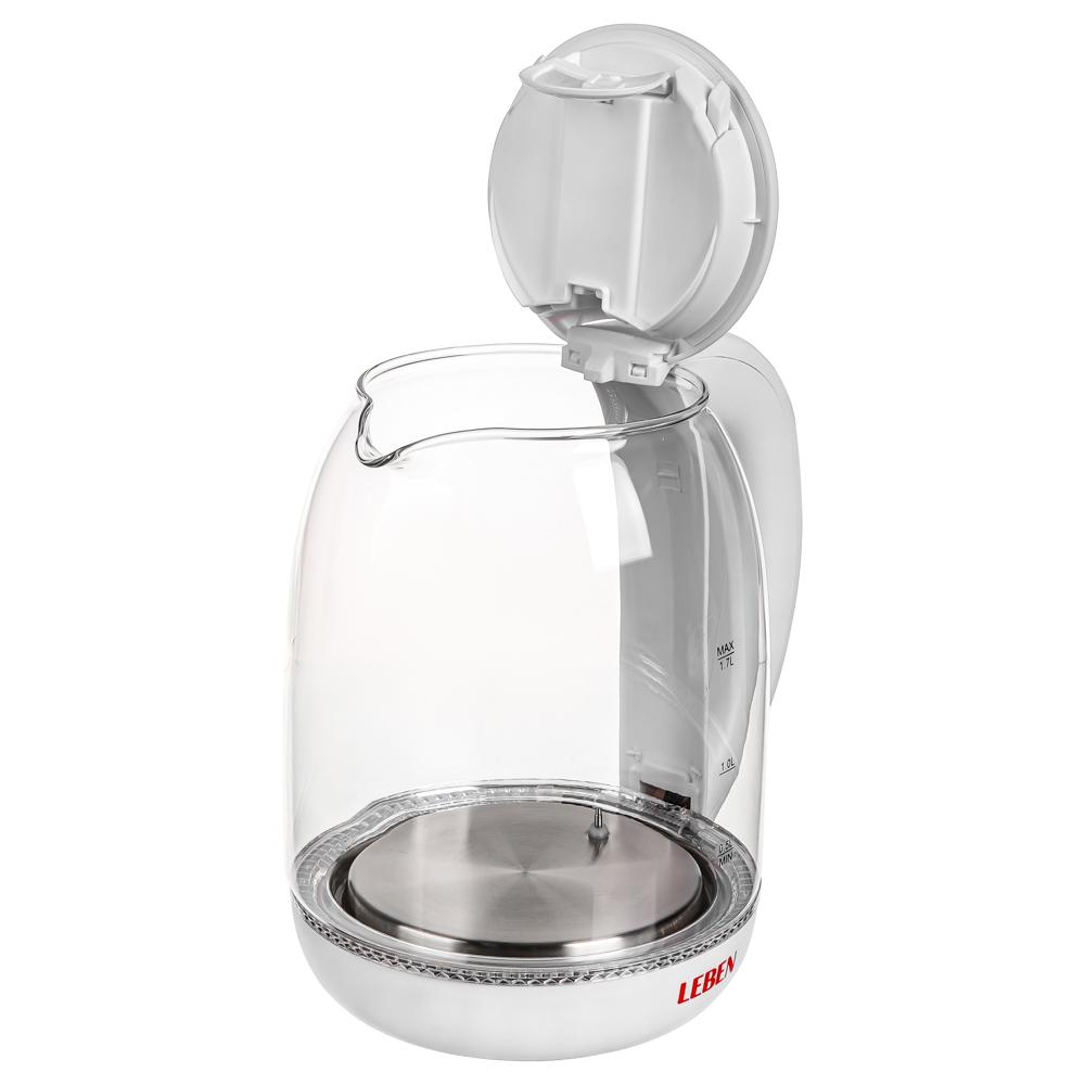 Чайник электрический LEBEN 1,7л, 1850Вт, скрытый нагревательный элемент, автоотключение
