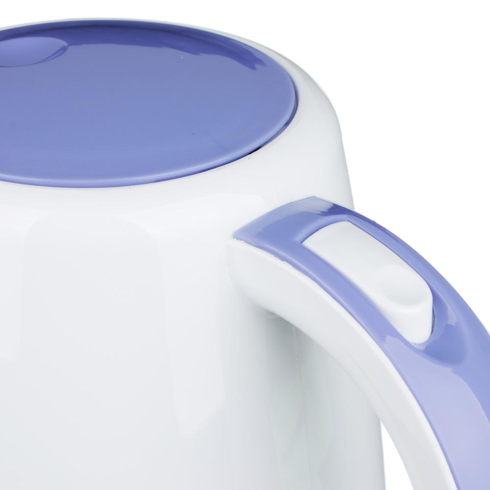 Чайник электрический 3,0 л LEBEN, 2200 Вт, пластик, белый/сиреневый
