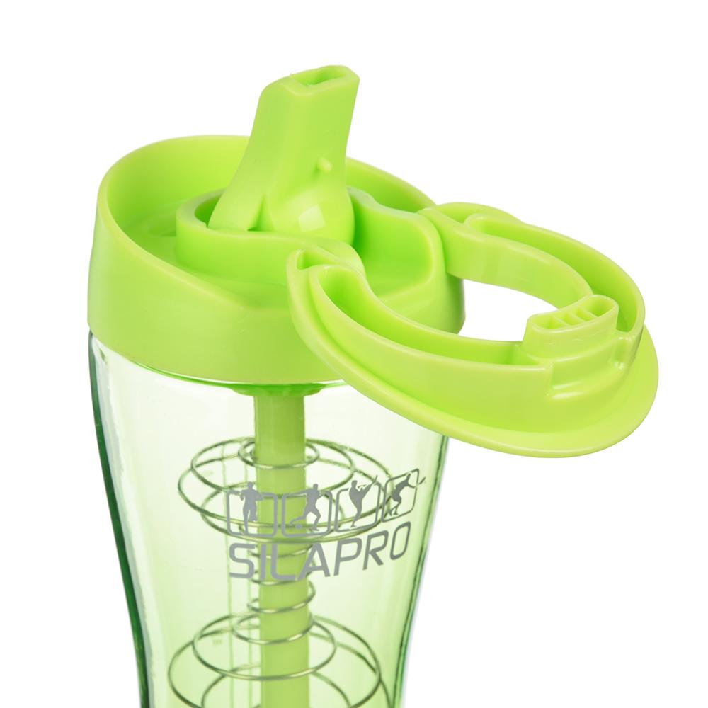 Шейкер для спортивного питания, 23,5х7,5 см, венчик,0,65 л, пластик, силикон, SILAPRO