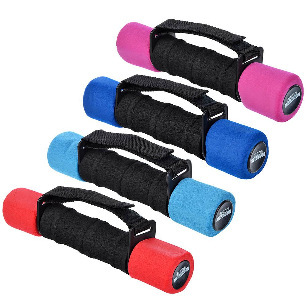 Гантель с фиксатором, вес 1,5 кг, поролон, металл, пластик , 4 цвета, SILAPRO