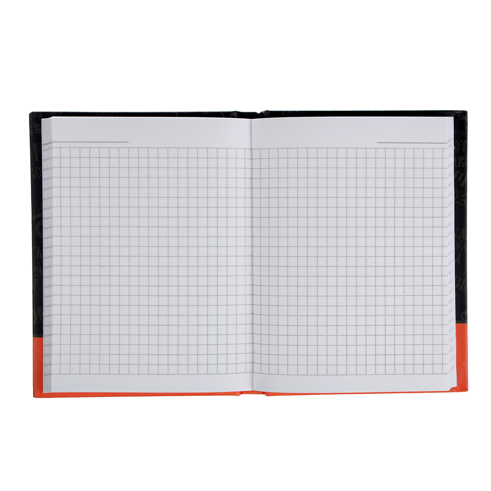 BY Записная книжка А6, 96л., твердая матовая обложка, 7БЦ, резинка, в клетку