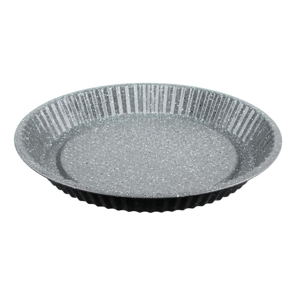 Форма для выпечки d.28 см SATOSHI, круглая, антипригарное покрытие мрамор