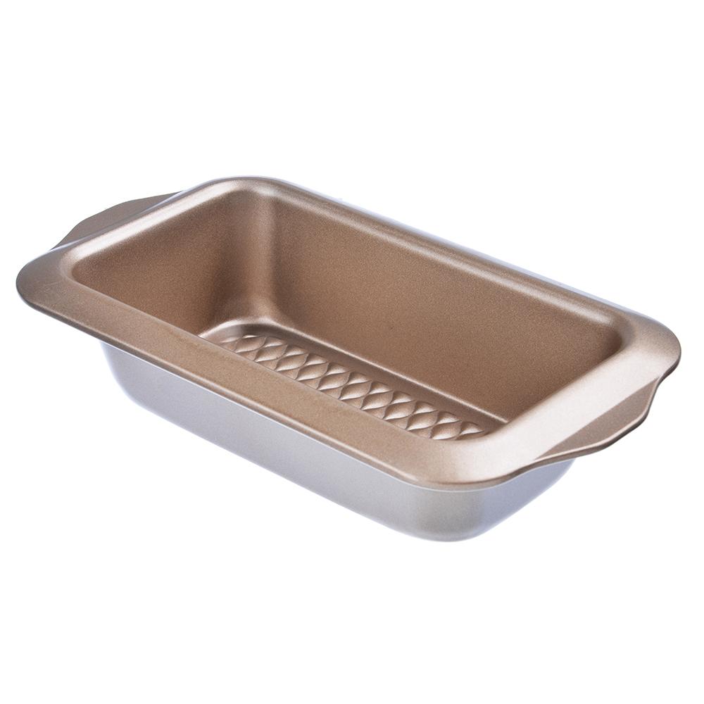 Форма для выпечки хлеба, угл.сталь, 28х15х6см, золотистое покрытие