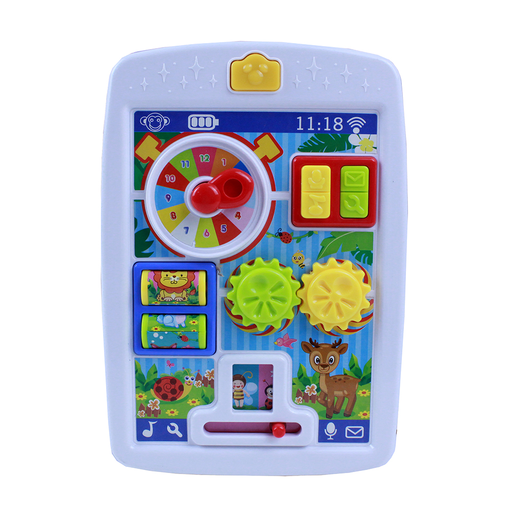 МЕШОК ПОДАРКОВ Игрушка интерактивная планшет, свет, звук, пластик, 12,5х19х2,5см