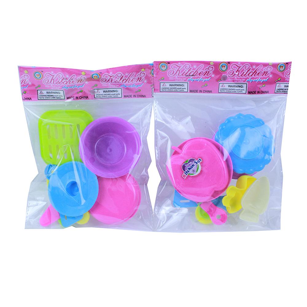 Посудка детская, 7пр., пластик, 13х18х3см, 2 дизайна