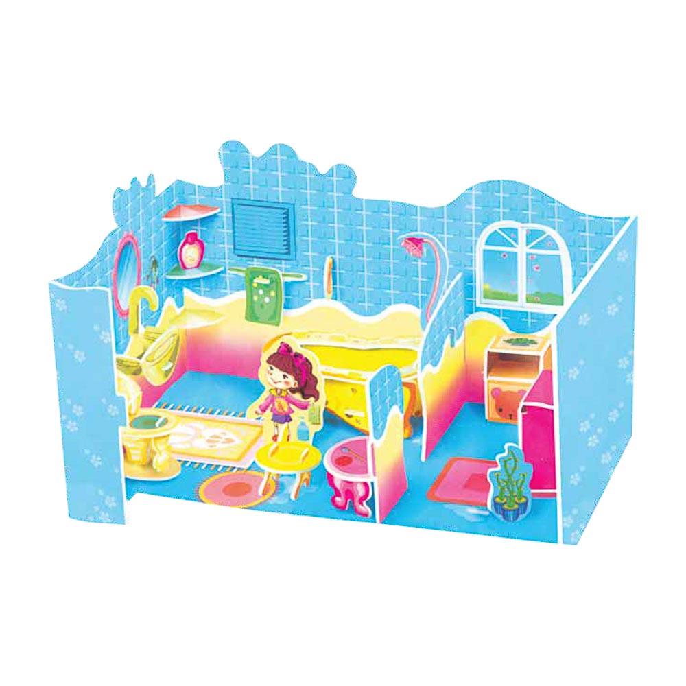 """ХОББИХИТ 3D-пазл """"Домик"""", вспененный полимер, картон, 4 дизайна"""