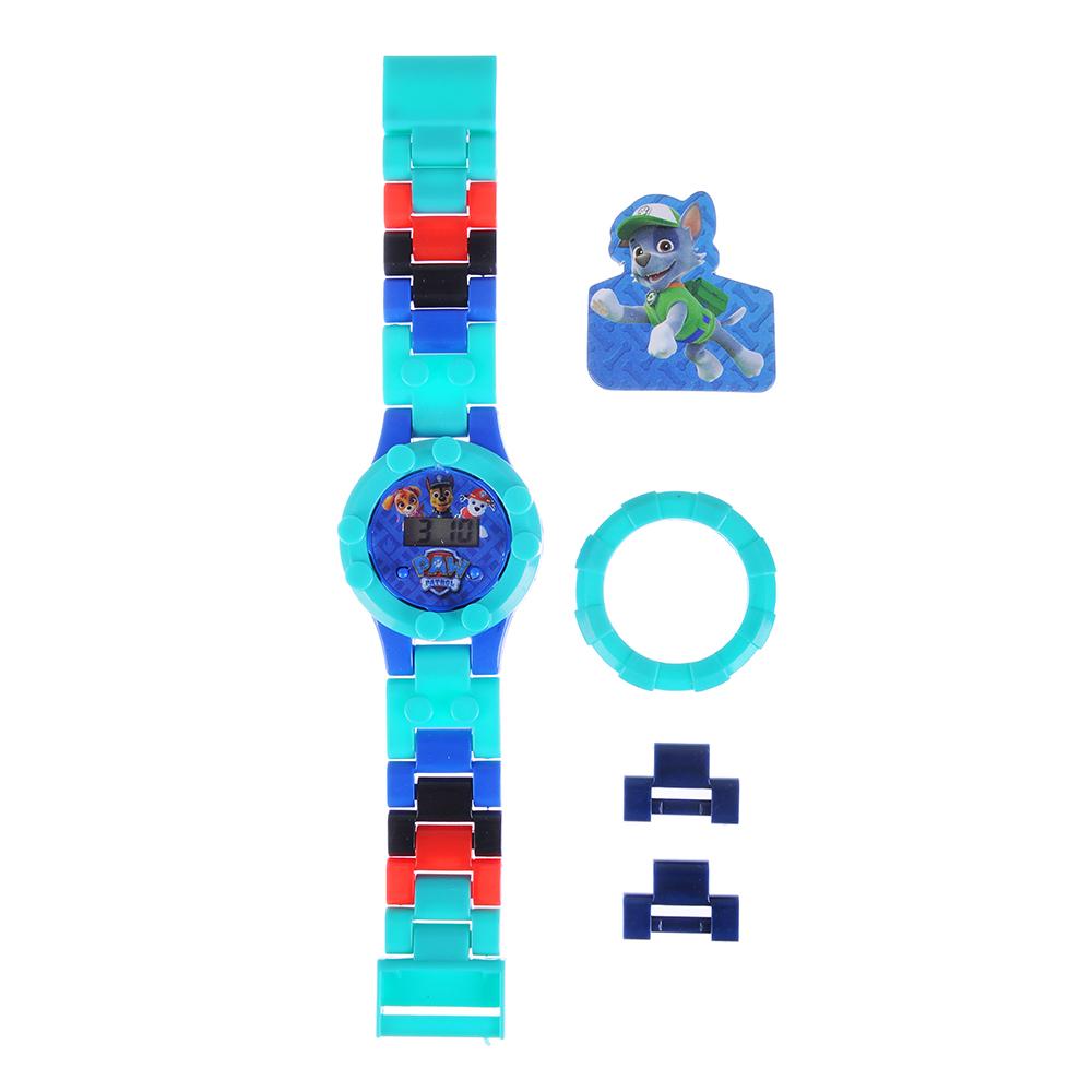Часы электр. Paw Patrol, браслет с элем.констр-а,доп.звенья,сменный циферб., пластик,30х8х1,5см