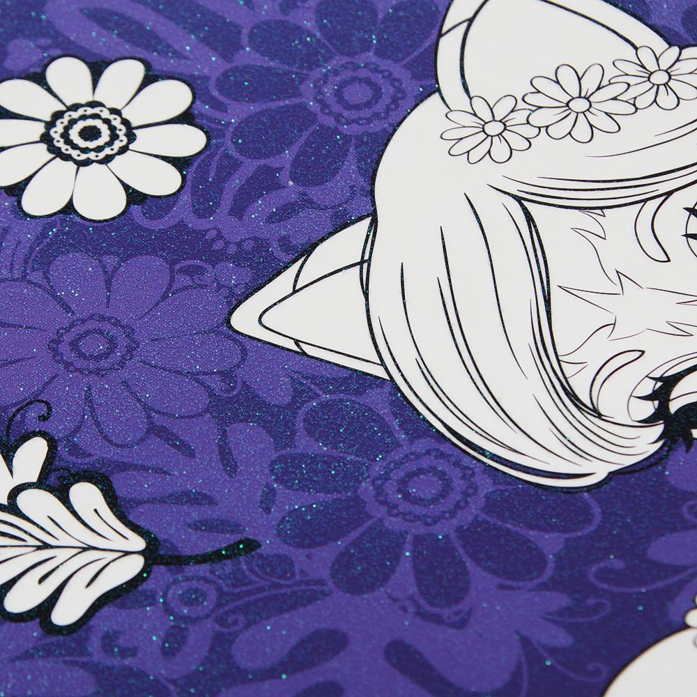 MATTEL Раскраска на блестящей основе (в компл. фломастеры), 19,5х31,5см, 4 дизайна