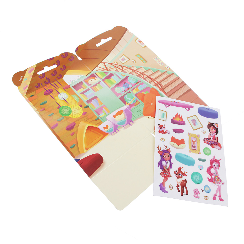 Enchantimals Домик из картона с комплектом наклеек, бумага, PVC, 13,5х29,5см