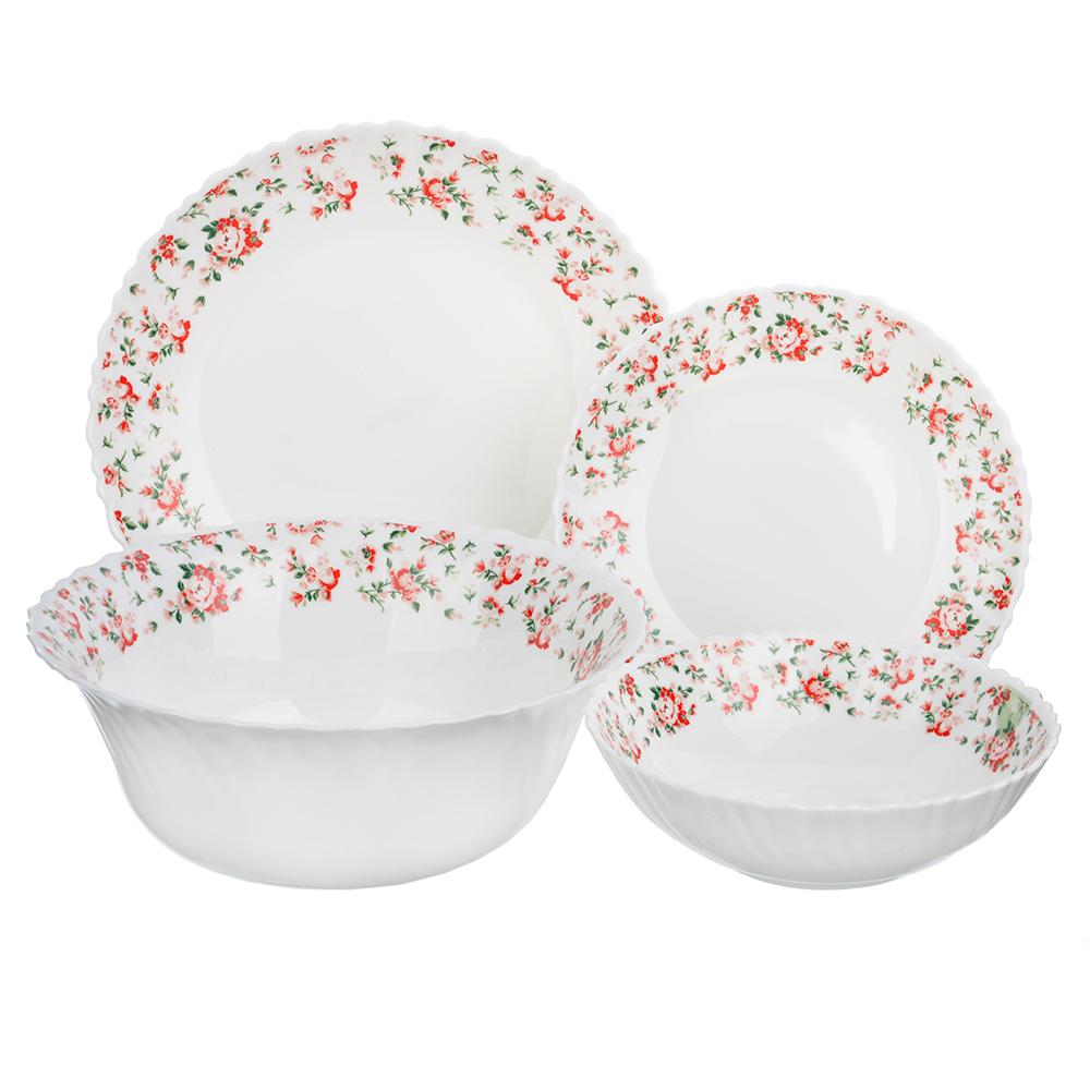 """Набор столовой посуды 13 предметов, опаловое стекло, MILLIMI """"Майя"""""""