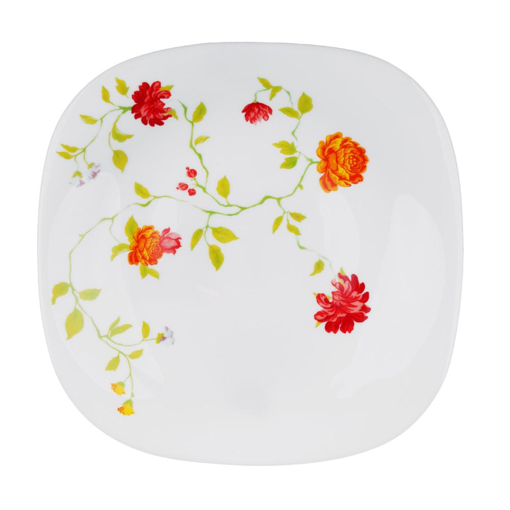 """Тарелка десертная d.21.5 см, опаловое стекло, квадратная форма, MILLIMI """"Дионис"""""""