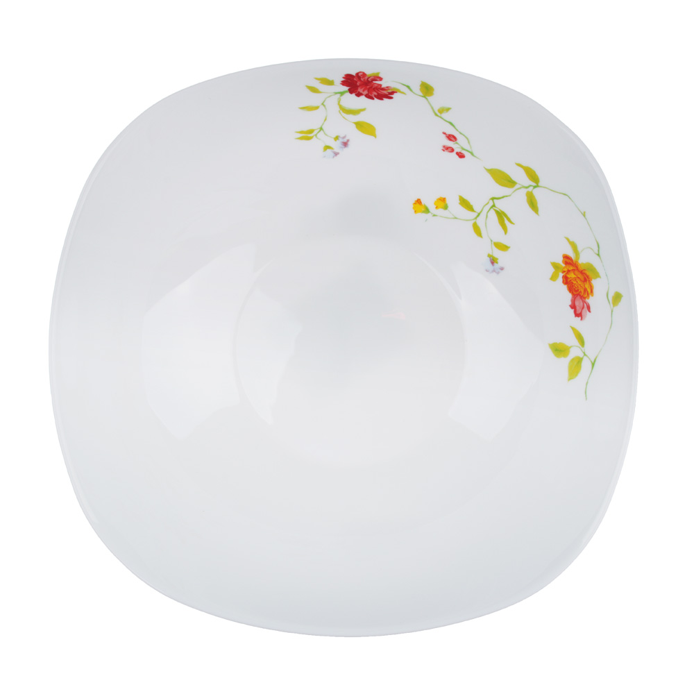 "Салатник, опаловое стекло, 24 см, квадратная форма, MILLIMI ""Дионис"""