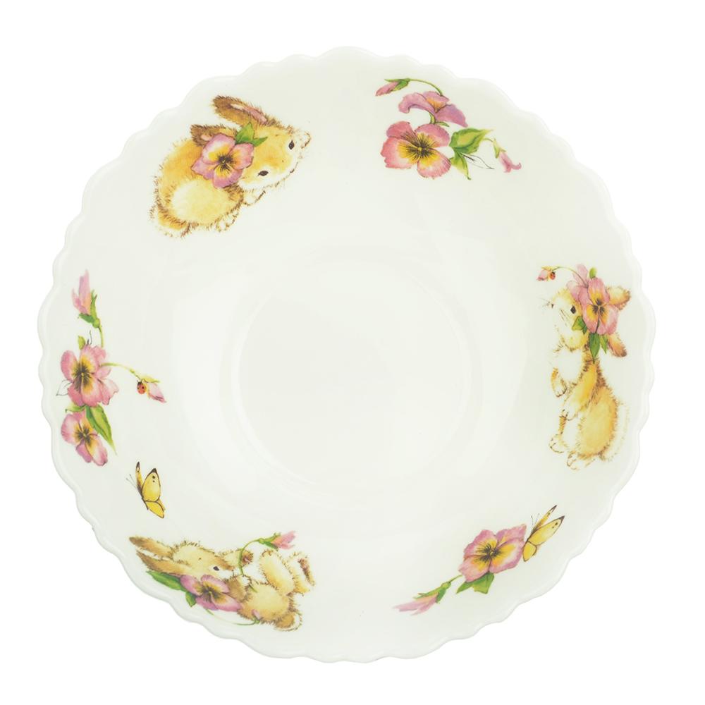 """Тарелка суповая детская 15 см, опаловое стекло, MILLIMI """"Зайчата"""""""
