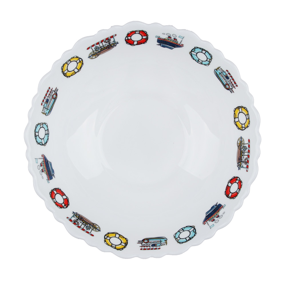 "Тарелка суповая детская 15 см, опаловое стекло, MILLIMI ""Морячок"""