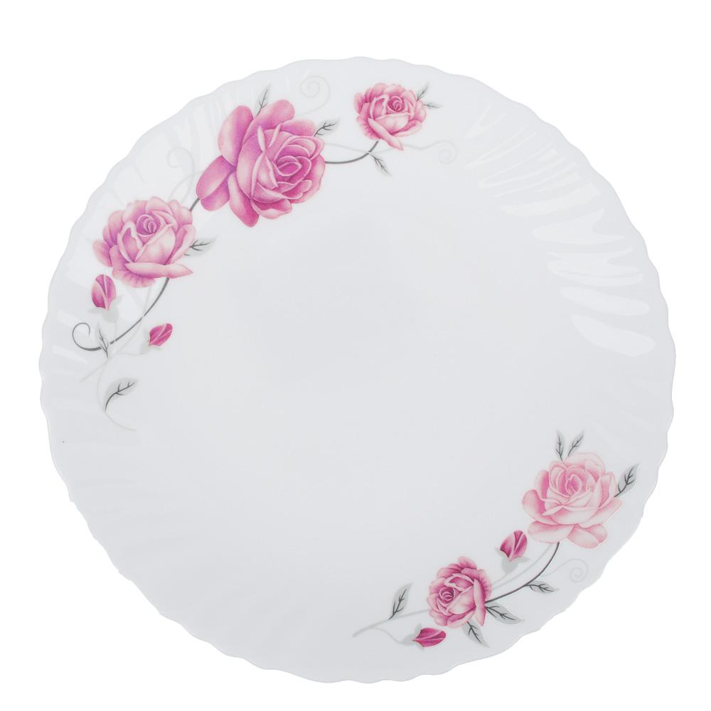 """Тарелка десертная, опаловое стекло, 19 см, MILLIMI """"Афина"""""""