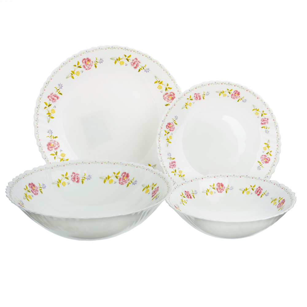 """Набор столовой посуды 19 предметов, опаловое стекло, MILLIMI """"Диана"""""""