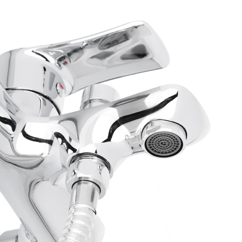 """Смеситель для ванны, короткий излив с душевым комплектом, картридж 35 мм, латунь, """"Топаз"""" RAIN"""