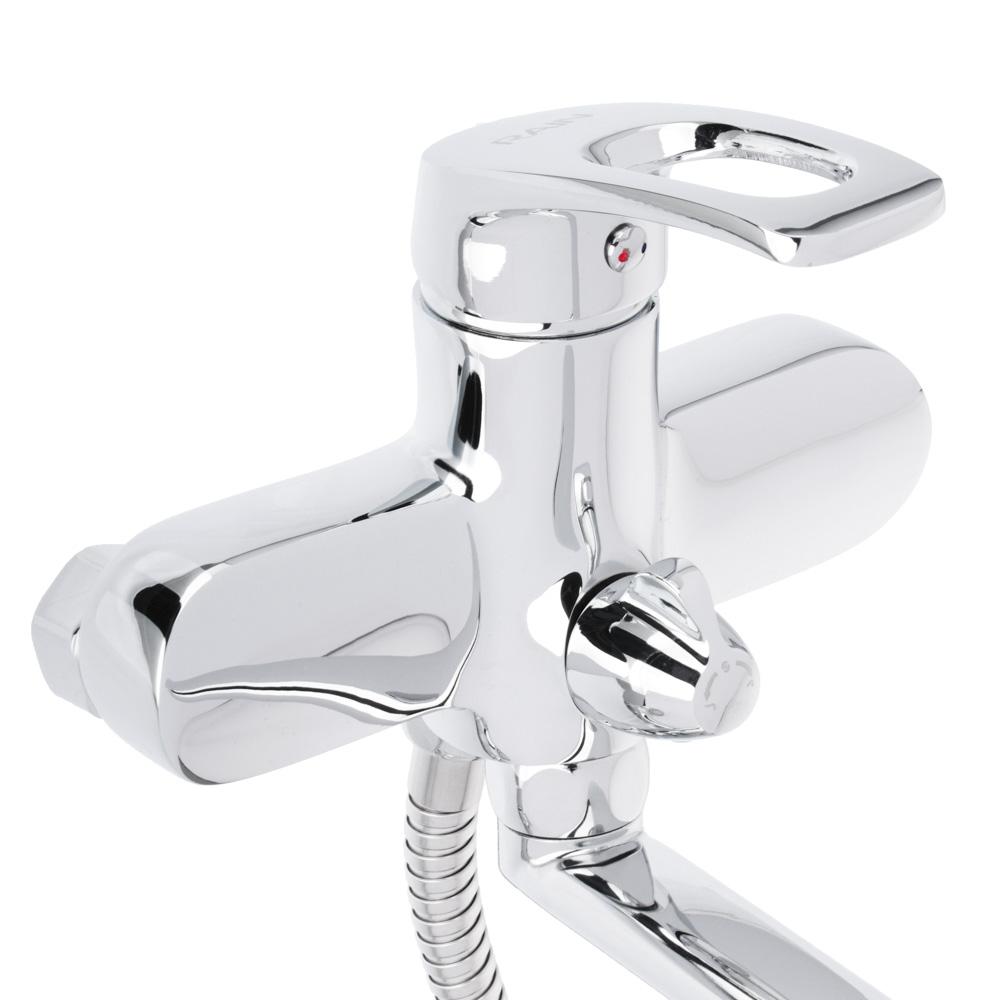 Смеситель для ванны, длинный излив 35 см, с душевым комплектом, картридж 35 мм, керамическим диверто