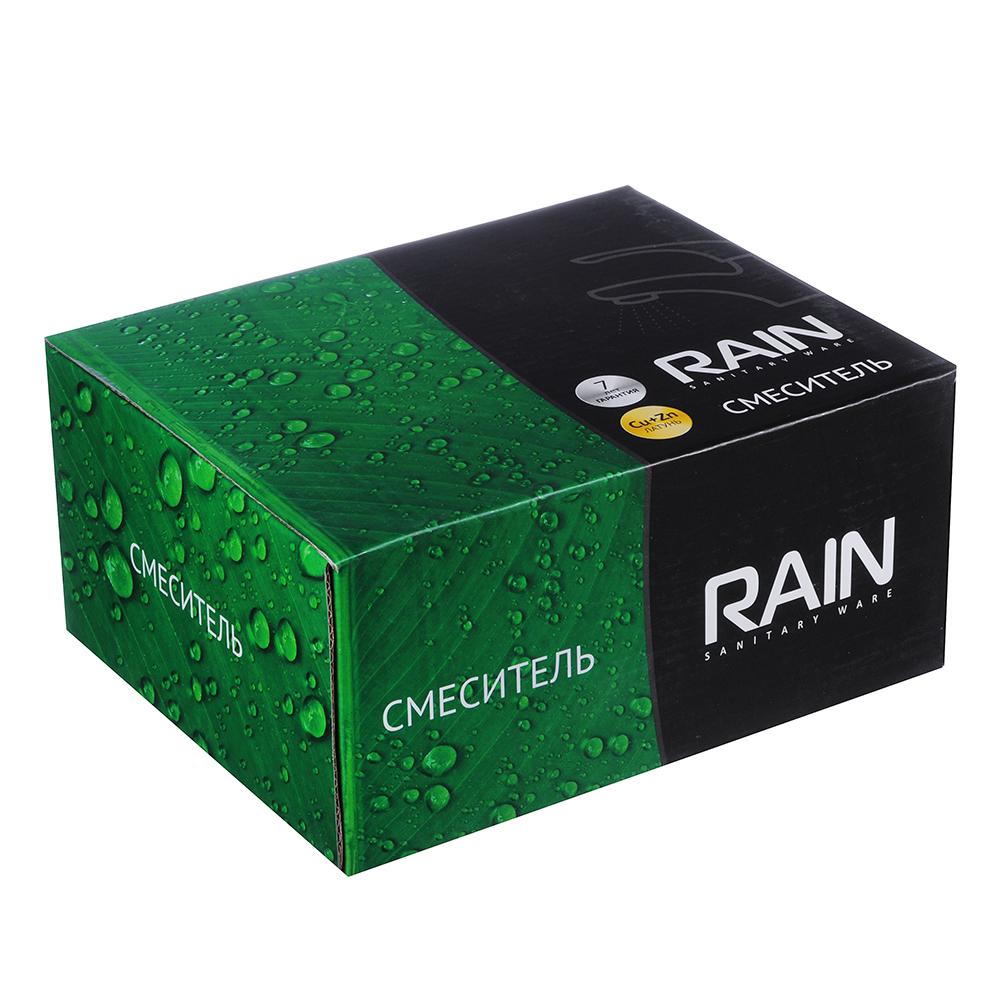 """Смеситель для раковины с донным клапаном, картридж 35 мм, гайка, латунь, """"Оникс"""" RAIN"""