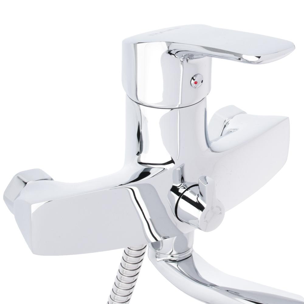 Смеситель для ванны, длинный излив 35 см с набором для душа, картридж 40 мм, керамический дивертор,