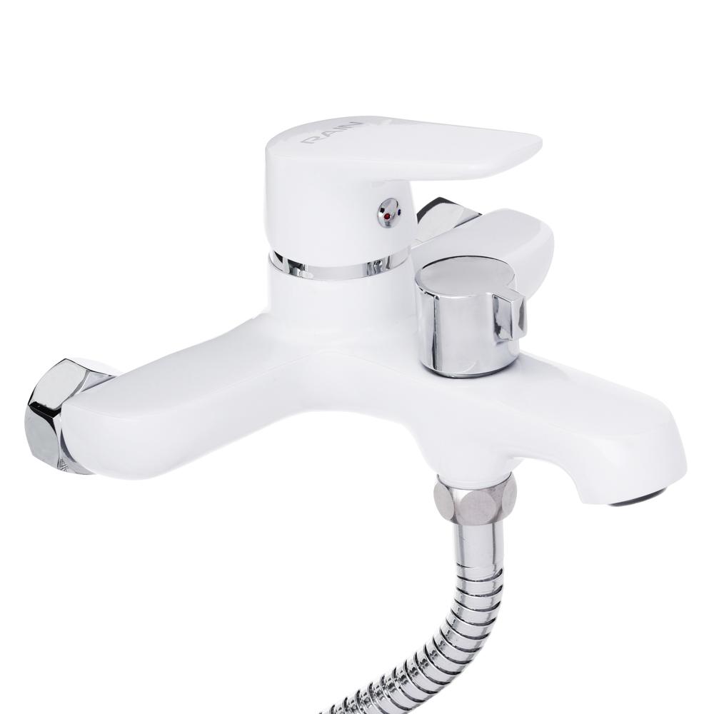 """Смеситель для ванны, короткий излив, с душ комплектом, картридж 35 мм, латунь, """"Алмаз"""" RAIN"""